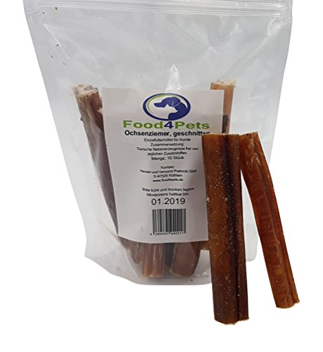 Ochsenziemer Kausnack für Hunde, 10 Stück x 12cm – der perfekte Snack für ihren Hund im praktischen wiederverschließbaren Beutel - 6