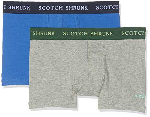 Scotch & Soda Shrunk Jungen Jersey Boxershorts Sold in Duo Pack Unterwäsche-Set, Mehrfarbig (Combo B 218), 176 (Herstellergröße: 16) (Soda-boxer)