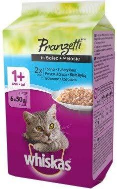 Whiskas Pranzetti Multipack per Gatto da (4+2 Omaggio) X 50 Gr, Pesce