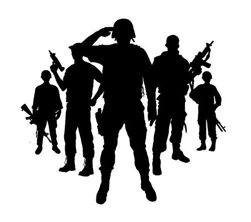 Marines Navy Veteran Hero Unterstützung Unserer Truppen Vinyl Wandtattoo Jungen Schlafzimmer Wandtattoo Aufkleber Dekor 22''W X 20''H ()