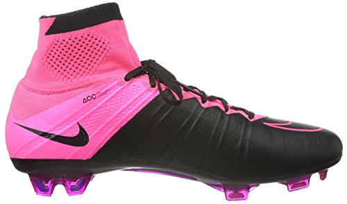 Nike Mercurial Superfly Lthr FG, Scarpe da Calcetto Uomo Multicolore (Black/Hyperpink)