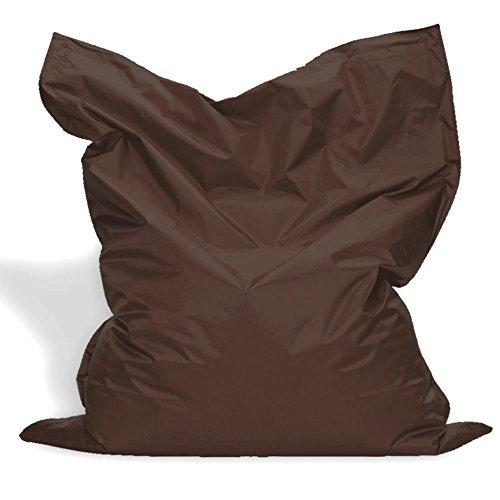 Sitzkissen XL-XXXXL Sitzsack Bodenkissen Kissen Sack In-und Outdoor (XXL= 160 x 120, Braun)