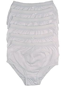 Cottonique Mujer 6 Pares DE Completo Algodón Calzoncillos en Colores a Elegir 36-54