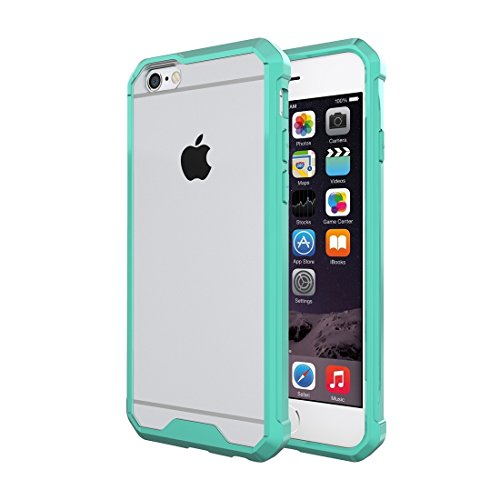 GHC Cases & Covers, Für iPhone 6 & 6s Shockproof Acrylic + TPU Transparente Rüstung Schutzhülle ( Color : Green ) Green
