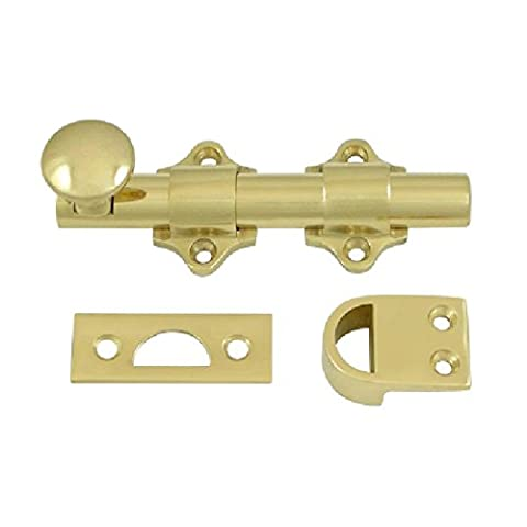 Deltana DDB425U3 HD Solid Brass 4-Inch Dutch Door Bolt by Deltana