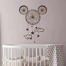 57x76cm Nursery Dream Catcher wall sticker orejas de Mickey Mouse Vinyl Wall Decal Home Decor Dreamcatcher