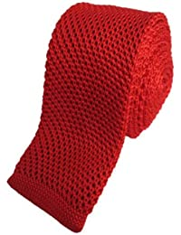 Red Skinny Knitted Tie