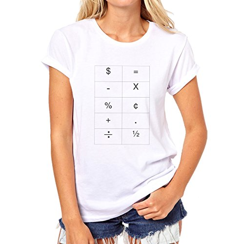 Number Math Symbol Calculus Equations All Symbols Damen T-Shirt Weiß