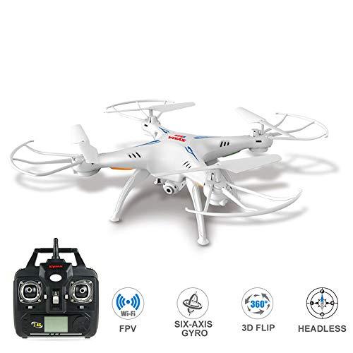 SILENTLY Luftdrohnen Vierachsigen Flugzeuge, Die Echtzeitübertragung Mit Kamera WiFi, Quadcopter/HD Antenne Drohne/Kinderspielzeug Flugzeug,Weiß