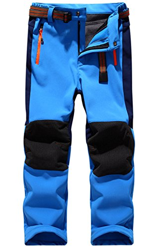 Pantalon Impermeable Trekking Niño Softshell Pantalones de Montaña Deporte al aire libre Pantalones Senderis Niña Pantalones de Escalada