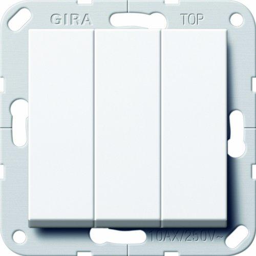 Preisvergleich Produktbild Gira 284403 Taster 3-fach Schließer 1-polig System 55, reinweiß