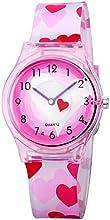Zeiger nuevo Cool Kids Reloj analógico fácil leer niños reloj Lovely tiempo maestro las niñas adolescentes reloj de pulsera con estrella en el cielo funda
