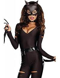 Lukis Fledermaus Batman Catwoman Damen Kostüm Korsage Halloween