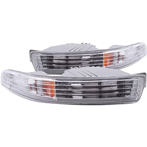 Anzo USA 511020 Acura Integra Chrome Euro w/Amber Reflector Bumper Light Assembly - (Sold in Pairs) by AnzoUSA