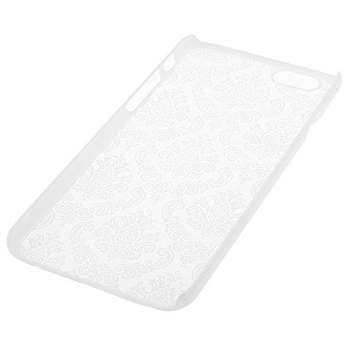Retro Palast prägeartige Blumen Muster Transluzente Schutzhülle für iPhone 6 & 6s by diebelleu ( Color : Silver ) White