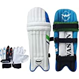 #8: Wasan Cricket Batting Legguard Pads and Cricket Batting Gloves Set (5-8 Years)