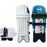 Wasan Cricket Batting Legguard Pads And Cricket Batting Gloves Set (5-8 Years)