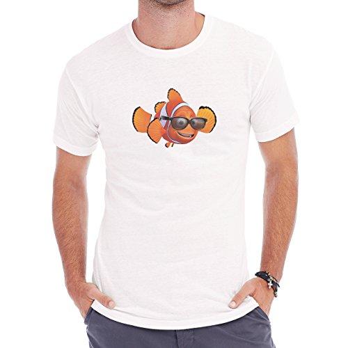 Finding Nemo Glasses Black Herren T-Shirt Weiß