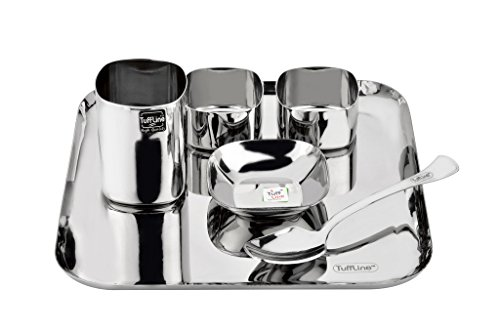 Tuff Line Stainless Steel 6 pc Square Dinner Set  available at amazon for Rs.1049