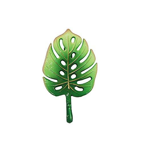 Hirtenarteneingangswand-hängender Dekorationshaken des kreativen Kaffeeshop-und-Schlüsselhakens hängen (Farbe : Grün, größe : Fan fern)