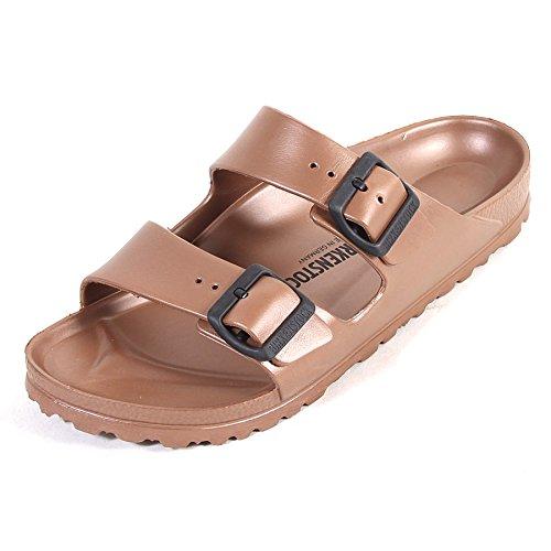 bebf68ef2 Birkenstock Women s Arizona EVA Narrow Fit Sandal Metallic Copper-Copper-5  Size 5