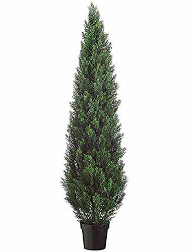 artplants – Künstlicher Zeder, 180 Nadelbündel, grün, uv-sicher, 180 cm – Kunst Zypresse/Deko Hecken Baum