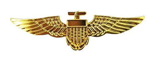 GOLD PILOT BADGE AVIATOR FANCY DRESS NAVY ARMY WING SOLDIER TOP CAPTAIN BROOCH GUN COSTUME ACCESSORY AVAILABLE IN PACKS OF DIFFERENT QUANTITIES -X1 - X6 - X12 - X24