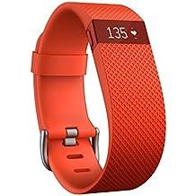 Fitbit Charge HR - Pulsera de actividad y ritmo cardíaco, color naranja, talla S