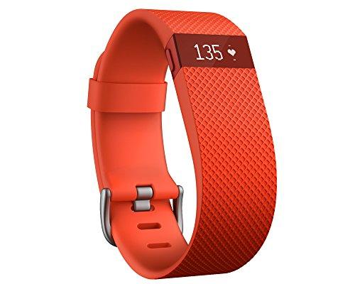 Fitbit Charge HR - Pulsera de actividad y ritmo cardíaco, color naranja, talla L