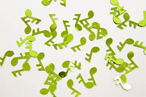 Konfetti Tisch-Note Musik–Mint