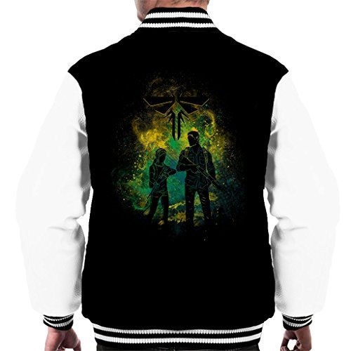 The Last Of Us Joel And Ellie Outline Men's Varsity Jacket (Clicker The Of Last Us)