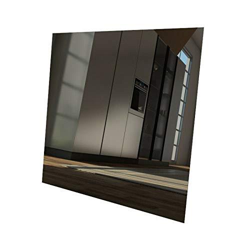 Glaswerk-Tanhas - Lackiertes Glas - Schwarzes Glas REF 9005 - aus Klarglas 6mm Dick/Stark - Glasplatte-n/Glasscheibe-n//Tischplatte-n nach Maß - Zwischenmaße möglich