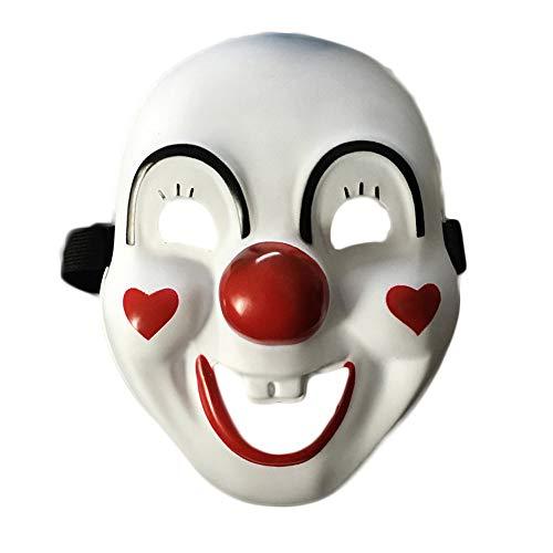Clluzu Halloween Masken Kaltlicht Ghost Dance Kleidung Leuchtende Leuchtende Clown Maske Für Festival oder Tanzparty 22X16,8 cm