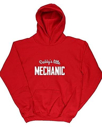 HippoWarehouse - Sweat-shirt à capuche - Fille - Rouge - 13 ans