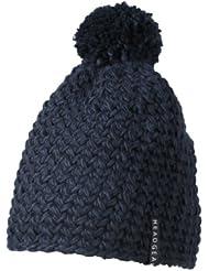 Myrtle Beach Uni Hakelmütze einfarbig mit Bommel, black, One size, MB7939 ny