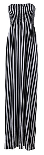 Leopard Design Kleid (Fast Fashion Damen Maxi Kleid Azteken Tribal Tierleoparddruckscher Boobtube)