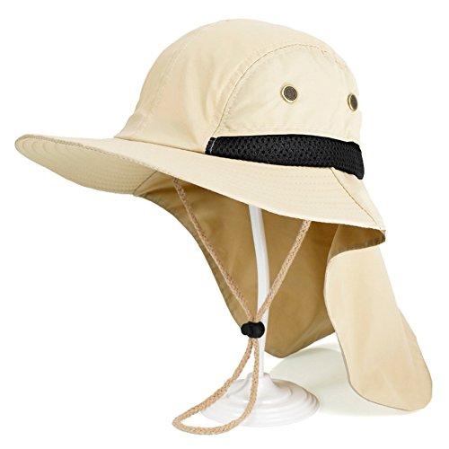 WYYY Chapeaux Hommes Visière Nylon Pliable Respirant Mince Et Léger Protection Contre Le Soleil Protection UV À L'extérieur 53-60cm (Couleur : Dark Beige)