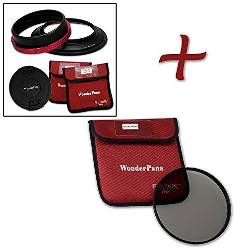WonderPana 145 Essentials Kit - 145mm Filter Holder, Lens Cap and CPL Filter for the Nikon 14-24mm AF-S Zoom Nikkor f/2.8G ED AF Lens (Full Frame 35mm) Lens Cap Kit