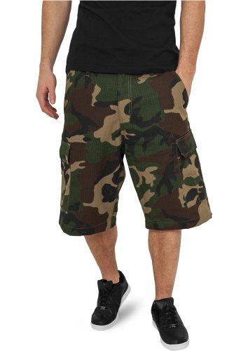 URBAN CLASSICS Cargo Shorts TB517 schwarz, beige, olive, camouflage Wood Camouflage