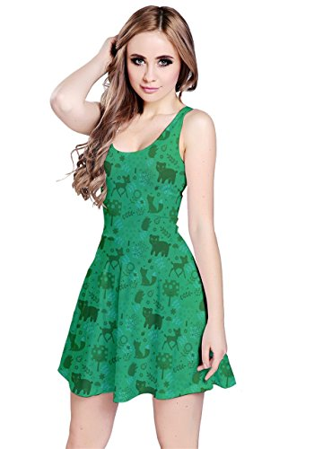 CowCow - Robe - Femme Colorful Woodland Green Woodland