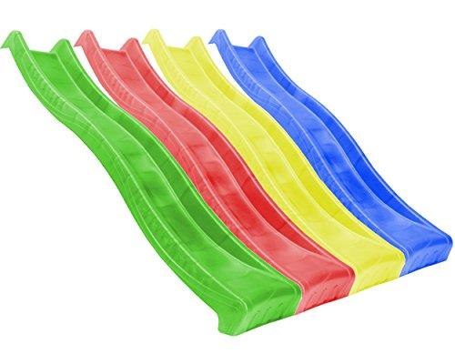 Jungle-Gym-Wellenrutsche-WAVY-STAR-220-m-265-m-fr-Podesthhen-von-115-145-m-Rutsche-Kinderrutsche-Gartenrutsche-Wasserrutsche-Anbaurutsche