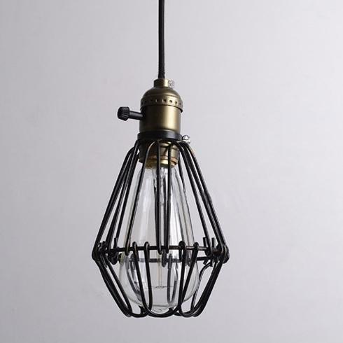 KHSKX Gabbia singola testa della lampada (senza