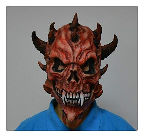 Z-one 1 Latex Totenkopf-Maske Vollgesicht Narren-Maske Ugly Dinosaurier Feeler Outdoor Aktivitäten Motorrad Fahrrad Fahrrad Skateboard Cosplay Party Halloween