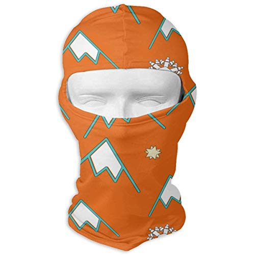 Pizeok Windproof Balaclava, Christmas Mountains Snowflakes Star Cold Weather Face Mask for Hunting Skiing Design20