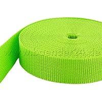 10M de correa de polipropileno–50mm de ancho–1,4mm de grosor–Limone (UV)