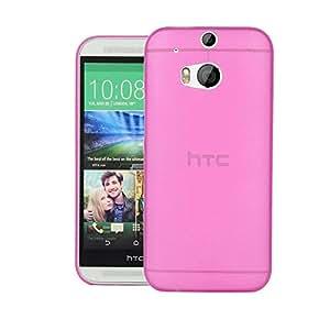 Quicksand Air skin Super Thin Matte Finish Anti Slip Back Case Cover for HTC One (M8) CDMA Pink