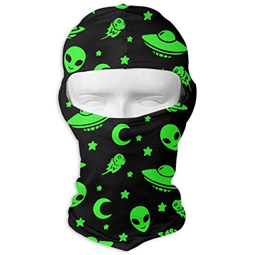 43f3c7bca7c Xukmefat Alien Funny Fluorescent Spaceships Planet Balaclava UV Protection  Windproof Ski Face Masks for Cycling Outdoor