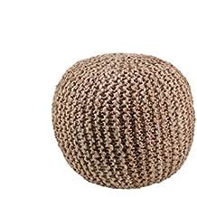 Moycor 763044.0 - Puff crochet redondo, 45 x 45 x 37 cm, color marrón