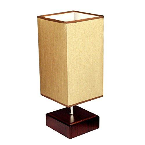 KTYX Moderno Minimalista IKEA lámpara de Mesa de Madera Escritorio lámpara de Lectura Dormitorio cabecera Estudio decoración cálida lámparas LED Luz de Mesa (Color : Push Button Switch)
