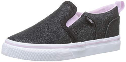 Vans Unisex Baby Asher V Sneaker, Schwarz ((Glitter) Lilac Snow V2r), 26 EU Signature-slip-ons